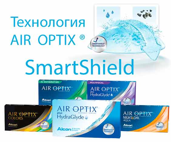 Технология AIR OPTIX  SmartShield ®